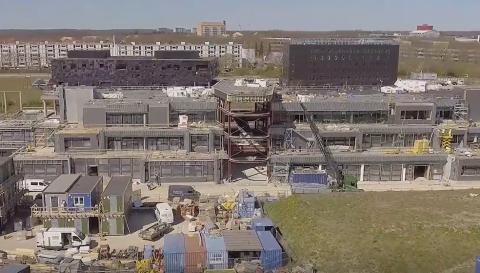 Byggeriet af H.C. Ørsted Gymnasiet i Lyngby er nået langt
