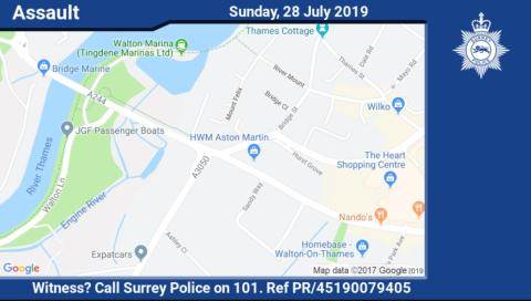 Appeal after woman assaulted in Walton-on-Thames