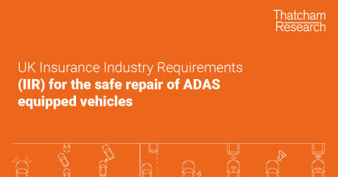 Insurance Industry Requirements to enable long-term sustainability of ADAS-equipped vehicles