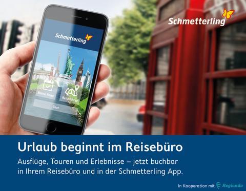 Full-Service in der Urlaubsberatung - Schmetterling integriert Regiondo Content