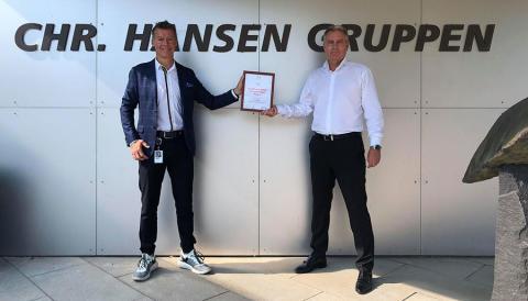 Chr. Hansen internationally honored for positive safety transformation