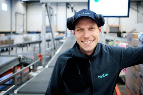 Linus i Budbee's terminal på exportgatan