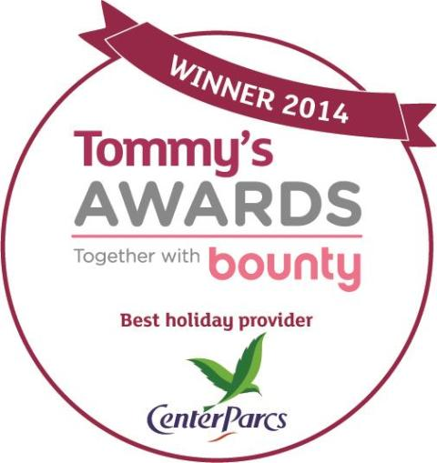 Center Parcs named Best Holiday Provider at Tommy's Awards