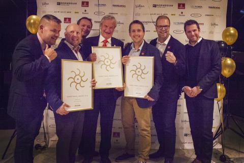 Norwegian vann tre priser under Grand Travel Awards