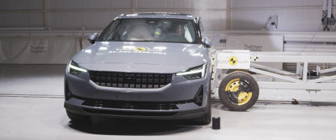 Polestar 2 - side mobile barrier test - March 2021