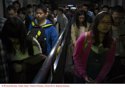 Copyright FutureofCities, Adam Dean, Panos Pictures, China 2014, Beijing Subway_02