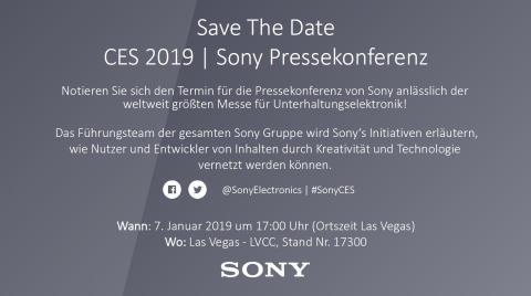 Einladung - Sony @ CES 2019 - Livestream
