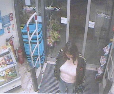 Michelle Samaraweera entering shop