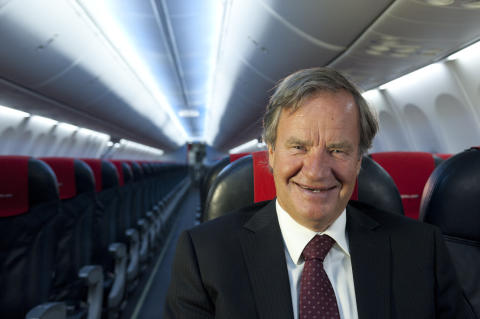 Bjørn Kjos i Norwegian-fly
