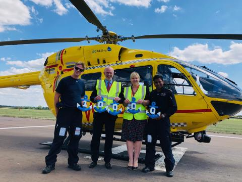Fred. Olsen-related companies support the East Anglian Air Ambulance with a further £10,000 donation