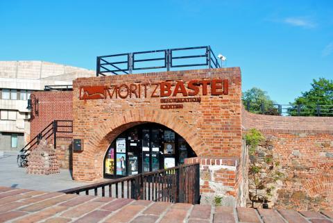 Das Informations- und Ticketbüro der Moritzbastei