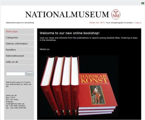 Nationalmuseum launches new online bookshop