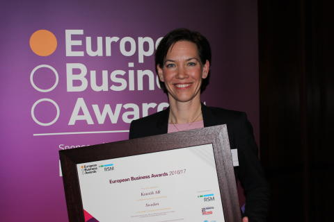 ​Kaustik prisades vid European Business Awards cermoni