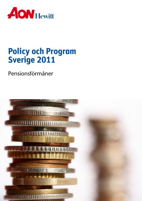 Aon Hewitt Policy & Program Pension 2011