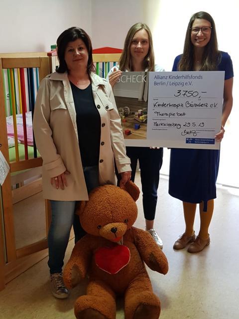 Neues Kinderbett vom Allianz Kinderhilfsfonds