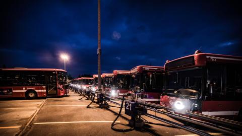 Smart uppvärmning av bussar sparar energi motsvarande två vindkraftverk