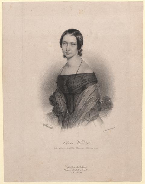 Clara Wieck- Lithografie von 1838