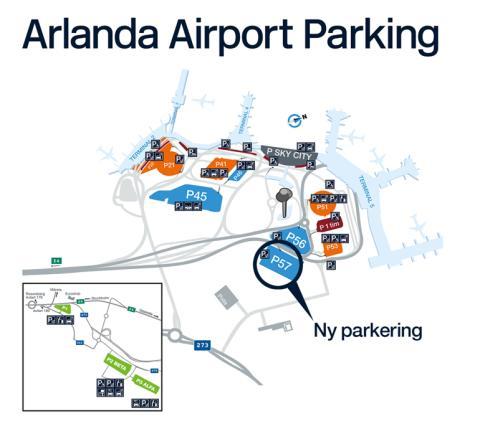 Ny terminalnära parkering på Stockholm Arlanda Airport