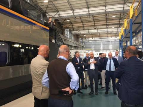 Passenger groups visit Pistoia to see the new Rock trains