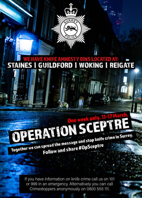 Operation Sceptre - Week of action to #StopKnifeCrime