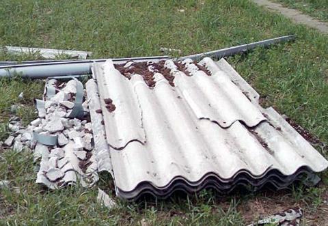 Asbest-Müll darf nur noch verpackt angeliefert werden