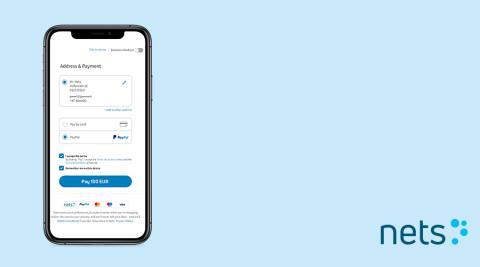 Nets integrerar PayPal som betalsätt för e-handel