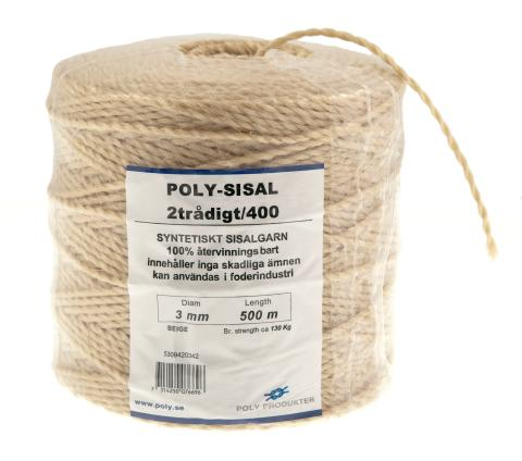 Poly-Sisal 2/400 syntetiskt sisalgarn