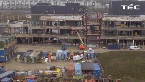 HCØ byggeri dronebillede december
