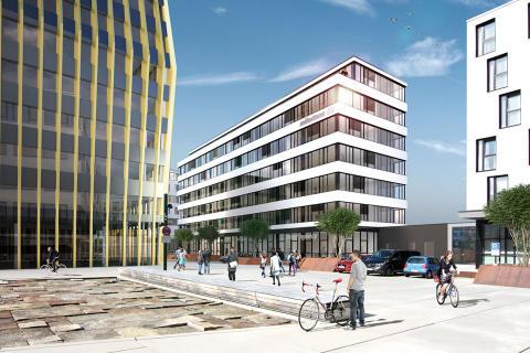 """BUSINESSMILE Freiburg weiter auf Erfolgskurs: STRABAG Real Estate vermietet an Kern AG und verkauft zwei """"MILESTONES"""" an Barmenia"""