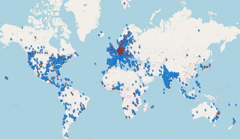 Klimatstrejker och manifestationer i minst 1569 städer den 29 november