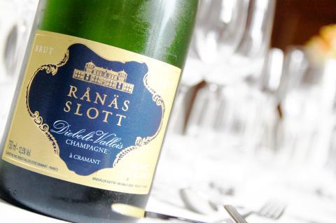 Egen champagne bubblare på Rånäs Slott