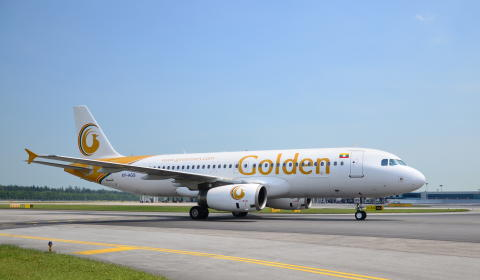 Golden Myanmar Airlines arrives in Singapore