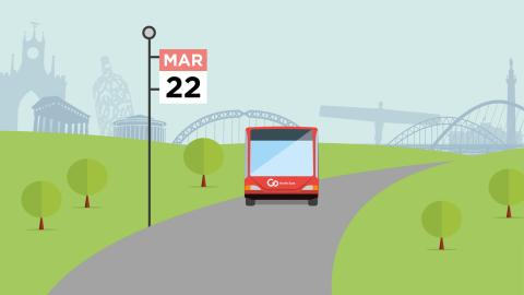 Service changes in North Tyneside from 22 March