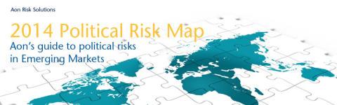 Aon Political Risk Map 2014 viser, at BRICS-landende står overfor øget risiko