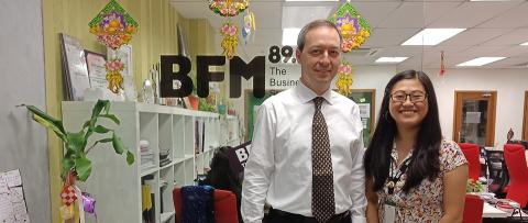Mark Laudi on Malaysia's BFM, on the four tangible business reasons why CEOs need to be media savvy