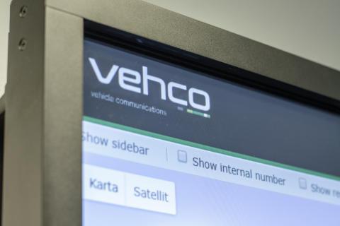 Vehco Weboffice på en smart-TV