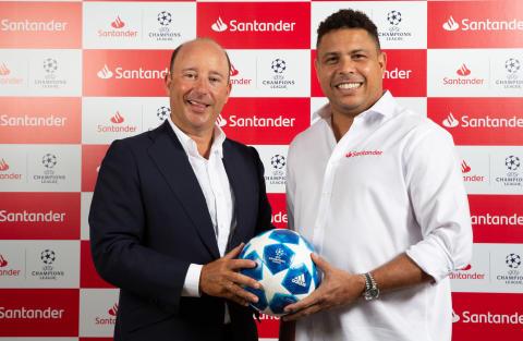 Ronaldo ist Santander Botschafter