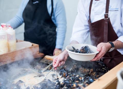 Mat möter stad på fastighetsbranschens nya arena