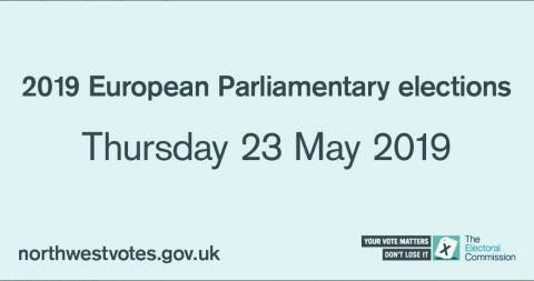 European Parliamentary Elections: North West region polling day arrangements