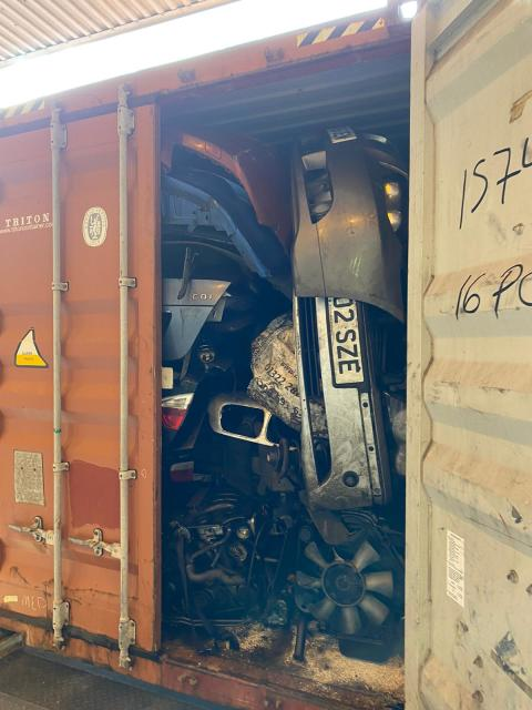 Contents of storage container intercepted on Essex coast