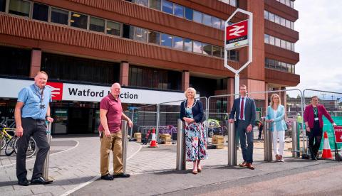Watford Junction forecourt improvements under way