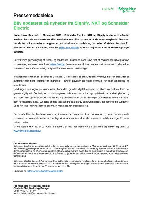 Bliv opdateret på nyheder fra Signify, NKT og Schneider Electric