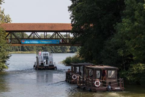 Hausboote in Fürstenberg/Havel
