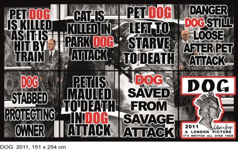 Gilbert & George, DOG, 2011