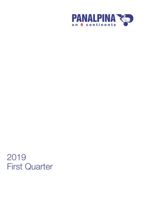 First Quarter Results 2019 – Consolidated Financial Statements