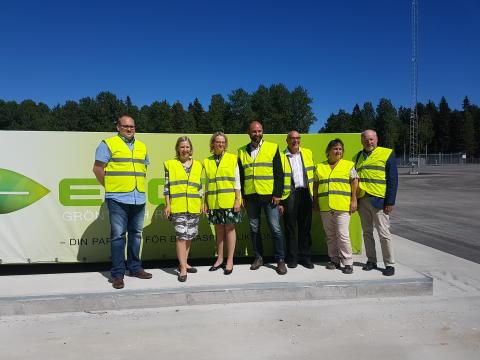 Ministerbesök på biogasanläggningen i Forsbacka
