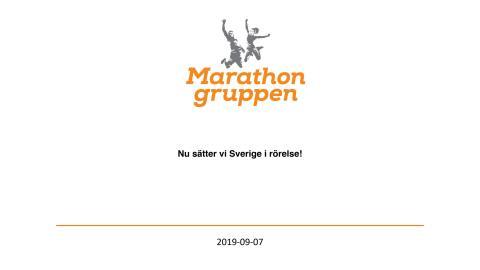 Faktbas Marathongruppens ungdomssatsning