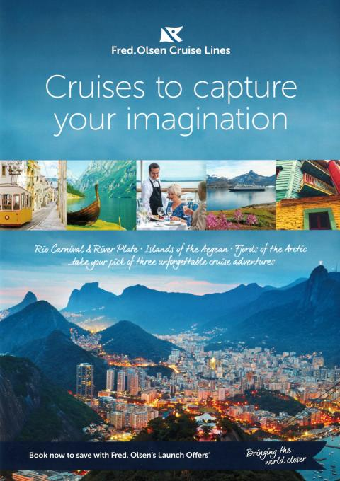 'Cruises to capture your imagination' with Fred. Olsen in 2017/18