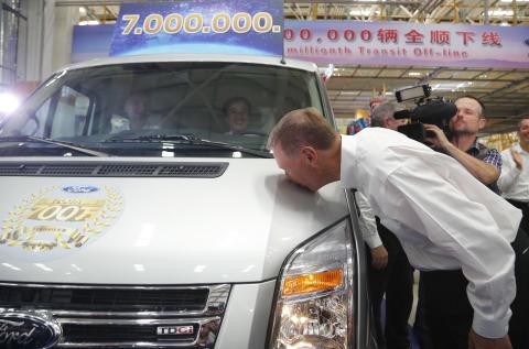 Ford har bygget Transit nr. 7 millioner