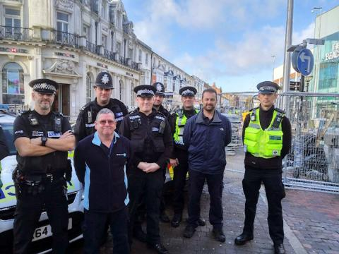 Eastbourne day of action tackles crimes against businesses